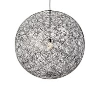 Moooi Random Medium Suspension Lamp Ulmolra M B Medium 31.5 In Black 13.1Ft Cable Black White