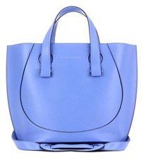 Victoria Beckham Small Tulip Leather Tote Blue