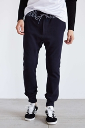 Vanishing Elephant Contrast Ribbed Track Pant Navy