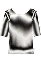 Theory Striped Boatneck T Shirt