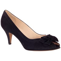 Peter Kaiser Satyr Bow Peep Toe Sandals Navy