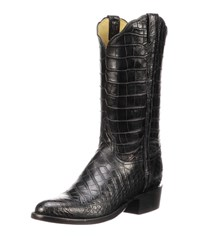 Lucchese Baron Gator Western Boots Black