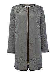 Noa Noa Quilted Coat Grey