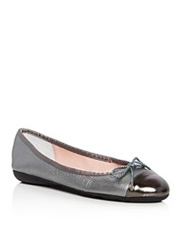 Paul Mayer Brandy Metallic Ballet Flats Gunmetal