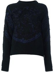 Sacai Embroidered Jumper Black