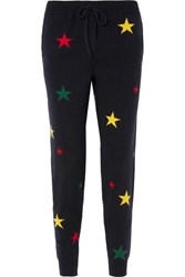 Chinti And Parker Star Intarsia Cashmere Track Pants Navy