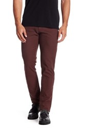 Ganesh Birdseye Print Slim Fit Pant Red