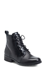 Brn Women's B Rn 'Troye' Vintage Lace Up Boot Black Leather