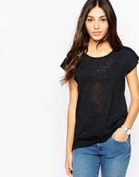 Soaked In Luxury Short Sleeve Lace Top Black