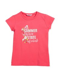 Mayoral Summer Is A State Of Mind T Shirt Size 3 7 Fuschia