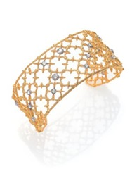 Alexis Bittar Elements Gilded Muse Crystal Small Spur Lace Cuff Bracelet Gold