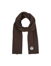 North Sails Oblong Scarves Dark Brown
