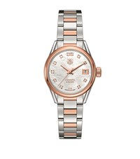 Tag Heuer Carrera Mother Of Pearl Self Winding 32Mm Watch Unisex Ivory