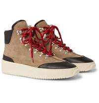 Fear Of God Nubuck And Leather High Top Sneakers Beige