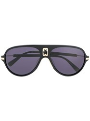 Balmain Aviator Sunglasses Black