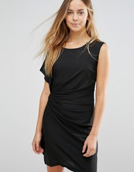 Jasmine Bodycon Dress With Ruched Side Black