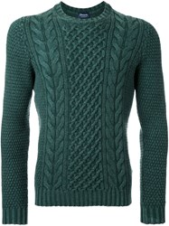 Drumohr Aran Sweater Green