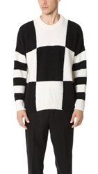 Ami Alexandre Mattiussi Oversized Crew Neck Sweater Black White