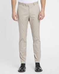 Hugo Hugo Boss Beige Summer Unlined Cotton Trousers