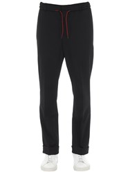Mcq By Alexander Mcqueen Tailored Wool Blend Jogging Pants Black