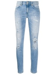 Dondup High Rise Skinny Fit Stonewashed Jeans 60