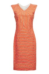 Almost Famous Stripy Dress Orange