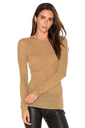 Vince Ribbed Sweater Tan