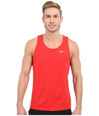 Nike Dri Fit Contour Singlet University Red Reflective Silver Men's Workout