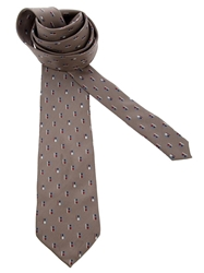 Pierre Cardin Vintage Printed Tie Brown