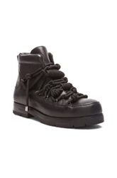 3.1 Phillip Lim Summit Knotted Zip Leather Boots In Black