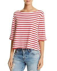Free People Cannes Stripe Tee Red