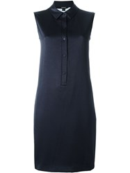 Dkny Sleeveless Polo Shirt Dress Blue