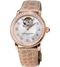 Frederique Constant Fc 310Hbad2pd4 Classics Heart Beat Rose Gold Plated Watch White