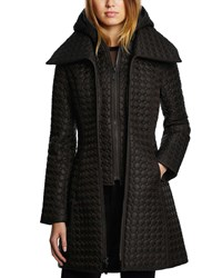 Dawn Levy Gwen Circle Quilt Double Layer Coat W Hood Storm