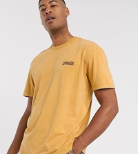 Topman Big And Tall Oversized Copenhagn T Shirt In Mustard Yellow