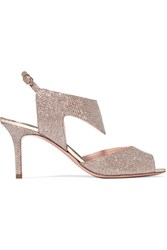 Nicholas Kirkwood Leda Textured Lame Sandals Gold