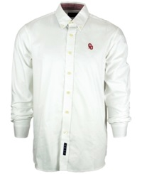 Vesi Men's Oklahoma Sooners Button Up Shirt White Cardinal Red