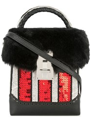 The Volon Sequin Box Bag Black