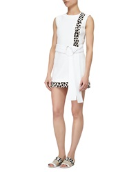 Edun Spotted Calf Hair Inset Dress Optic White