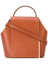 Onesixone Structured Crossbody Bag Women Leather One Size Brown