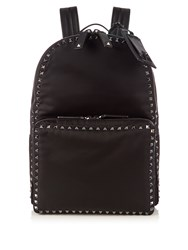 Valentino Rockstud Embellished Backpack Black