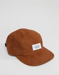 Wesc Faux Suede Snapback Brown