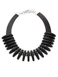 Lafayette 148 New York Luna Collar Necklace Black