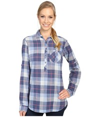 Columbia Coral Springs Ii Woven Long Sleeve Shirt Bluebell Plaid Women's Long Sleeve Button Up