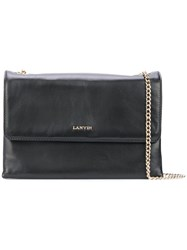 Lanvin Mini Sugar Shoulder Bag Women Cotton Lamb Skin One Size Black