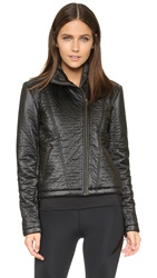 Solow Daniella Clarke Quilted Moto Jacket Black