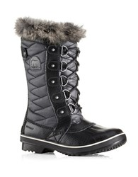 Sorel Tofino Ii Waterproof Coated Canvas Faux Fur Boots Black