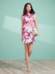 Shanghai Tang Chinese Blossom Print Straight Vest Pink