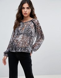 Wyldr Dust In The Wind Snake Charmer Printed Blouse Multi