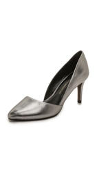 Rebecca Minkoff Brie Metallic Pumps Gunmetal